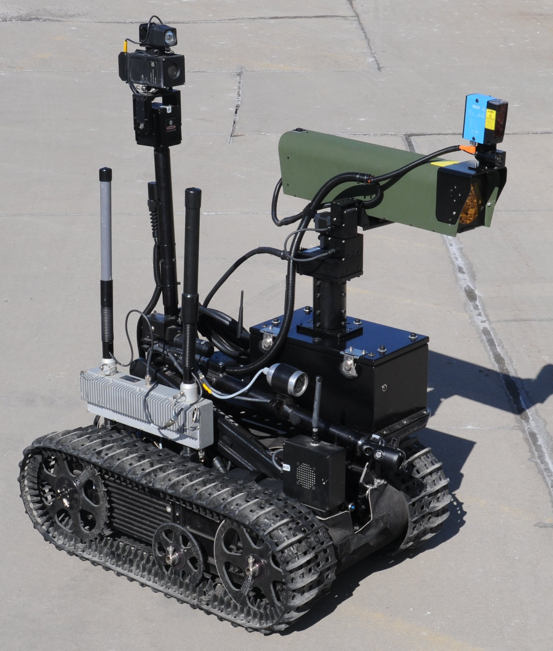 Robot with stand-off explosives detector