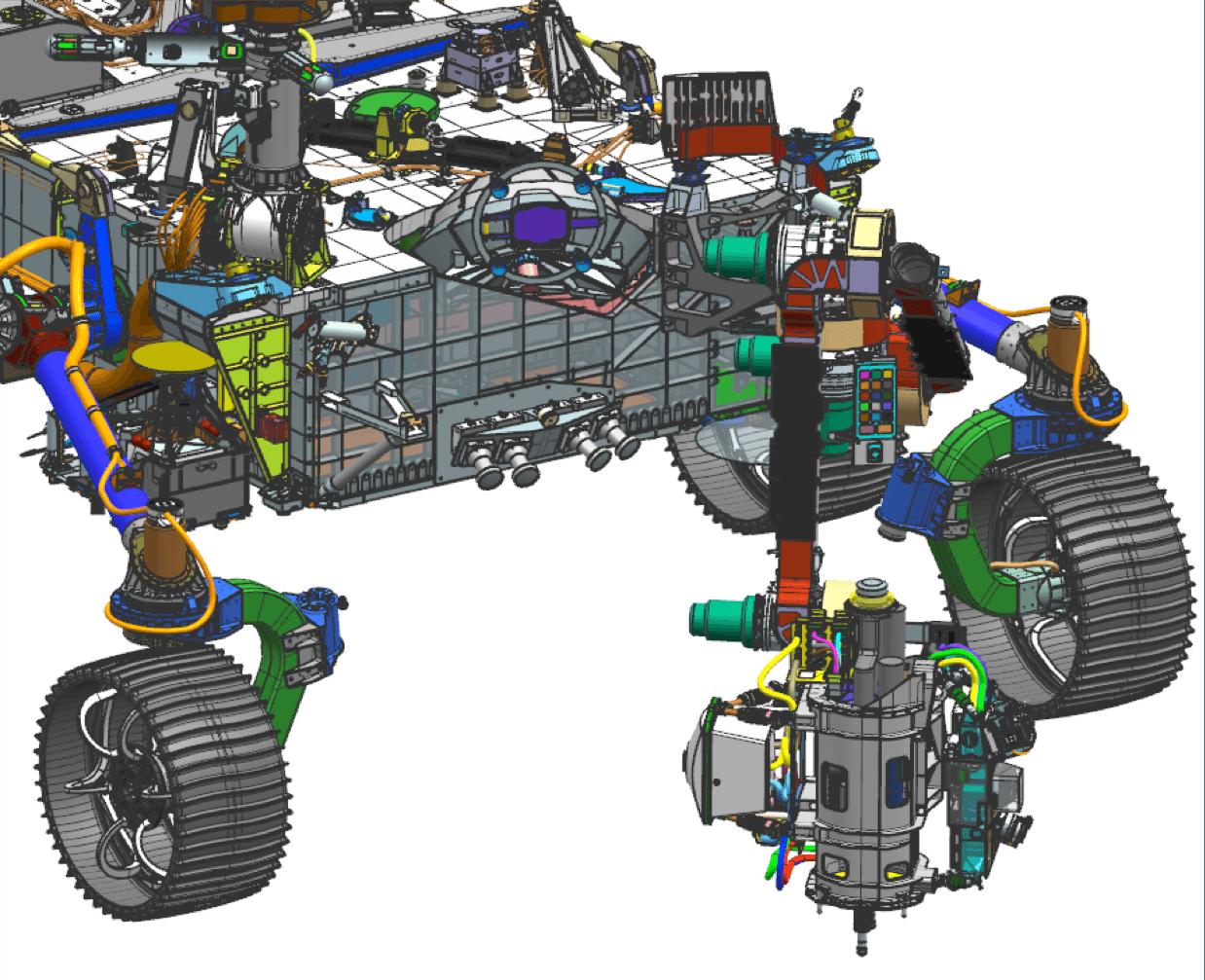 Mars 2020 Rover with SHERLOC