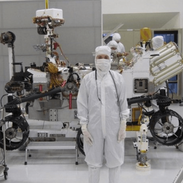 Mars 2020 Rover Assembly in Clean Room