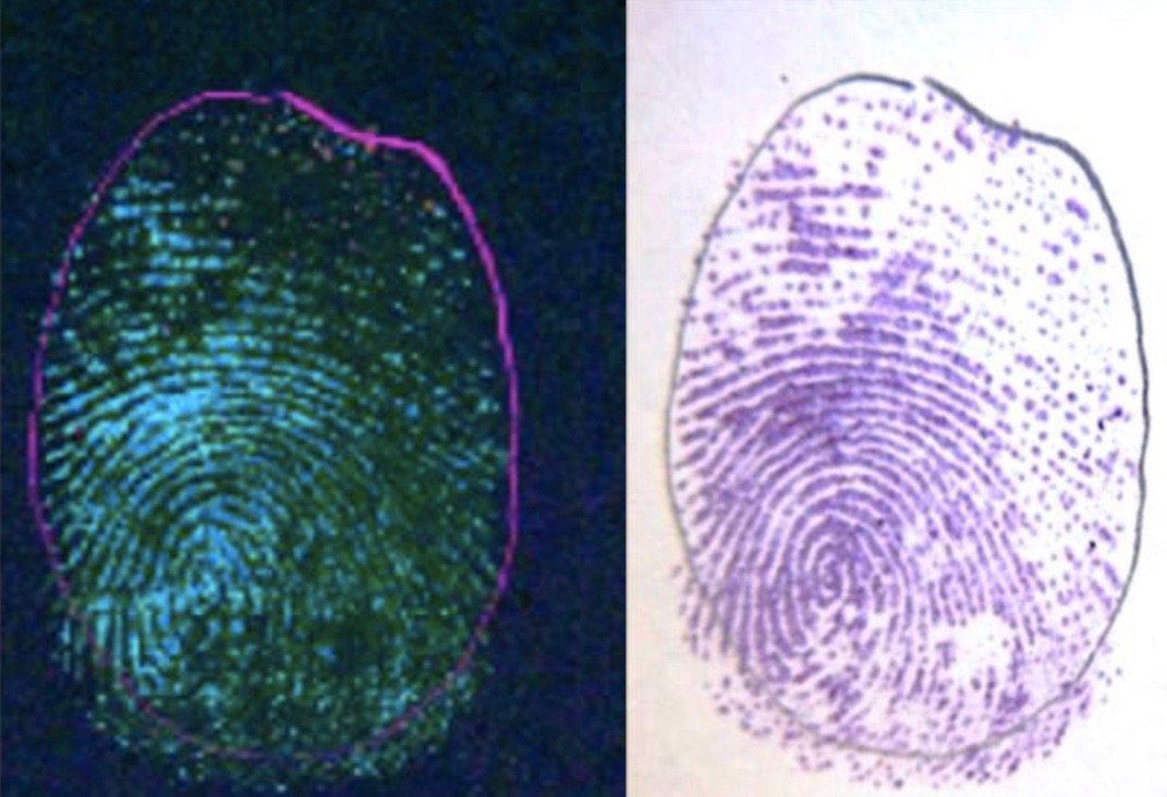 Fingerprint, DUV fluorescence verses ninhydrin