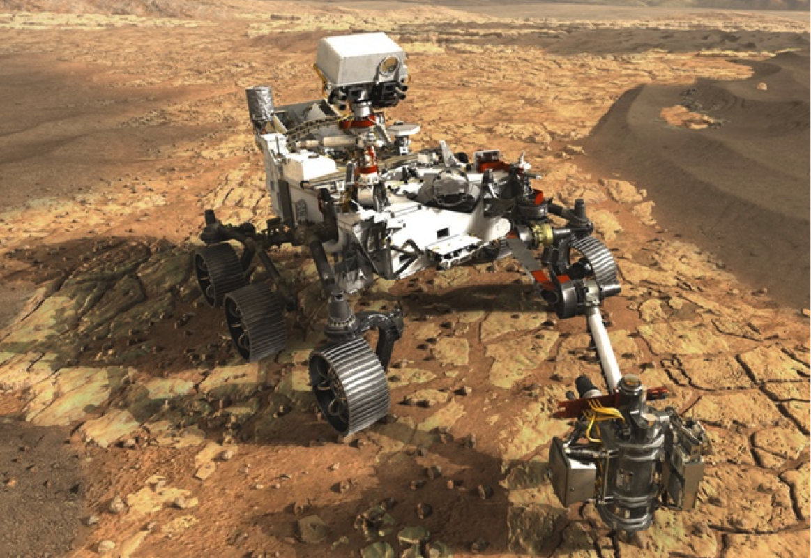 Mars 2020 Rover and SHERLOC