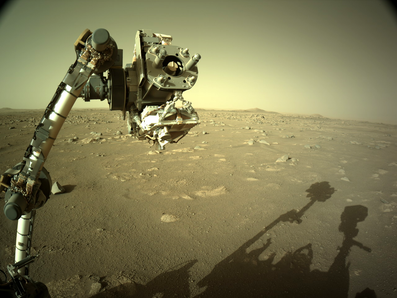 Remote Arm with SHERLOC on Mars